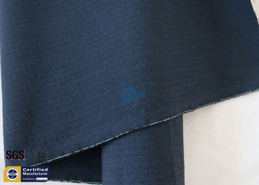 "China Meta Aramid Fabric Navy Blue Ripstop 210G 61"" Abrasion Resistant Vest Work Wear supplier"