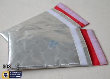 China Fireproof Bag Document Cash Envelope 1022℉ Silver Non Itchy Fiberglass Cloth supplier