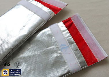 China Fireproof Bag Document 1022℉ Fire Resistant Pouch Fiberglass Silver Smooth supplier