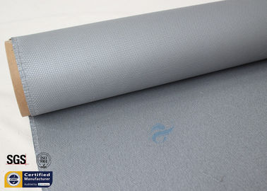China Thermal Insulation Materials 31OZ 0.85MM Grey Silicone Coated Fiberglass Fabric supplier