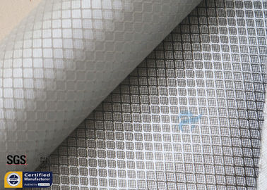 China Silver Coated Fabric Aluminized Fiberglass Cloth 0.2MM 260℃ Decoration supplier