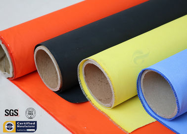 China Acrylic Coated Fibreglass Fabric Orange 7628 260℃ 500℉ Chemical Resistant supplier