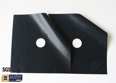 "China PTFE Fiberglass Fabric 260℃ Non Stick 10.6""X10.6"" Stovetop Burner Protector supplier"