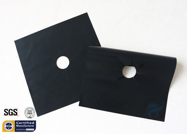 China PTFE Coated Fiberglass Fabric 260℃ 27X27CM Black Stovetop Burner Protector supplier
