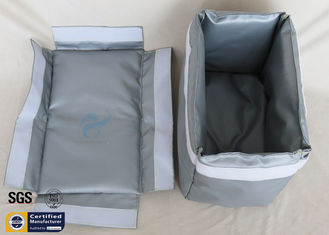 China Removable Thermal Insulation Jacket For Actuator Grey Silicone Fiberglass Fabric supplier