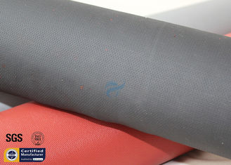 China Fiberglass Fabric Acrylic Coated 490GSM Black 260℃ Sparks Welding Blanket Cloth supplier