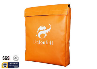 "China Orange Fireproof Document Bag 11""x15""x2"" 1523 ℉ Durable Fire Safe Cash Pouch supplier"