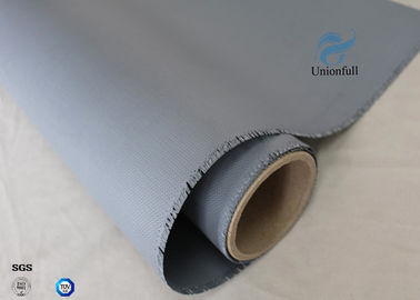 China 0.45mm 1.5m Wide 510g / M2 E - Glass Fiber Silicone Coated Fiberglass Fabric Heat Resistant supplier