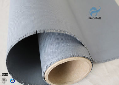 China Gray Color Silicone Rubber Coated Fiberglass Fabric 260℃ Satin Weave 1m Wide supplier