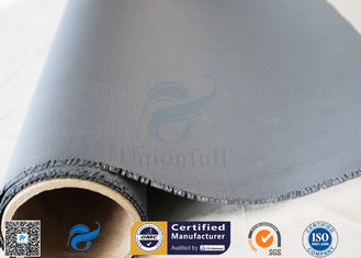 China 3732 E - Glass 1.2m Width Heat Resistant 0.45mm Gray Silicone Coated Fiberglass Fabric supplier