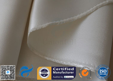 China High Temperature 1200gsm 1.3mm Fiberglass Fabric High Silica Cloth White Color supplier