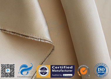 China Brown Color Heavy Duty 1472 ℉ Fiberglass High Silica Fabric 0.7mm Thickness supplier