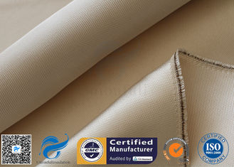 China 800℃ 600g Brown High Silica Cloth Fiberglass Fabric For Fire Blanket supplier