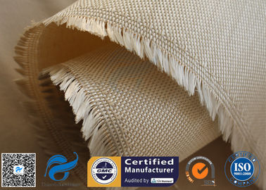 China 600g 18oz Brown Satin Fiberglass Silica Fabric For Kiln Heat Insulation Seal supplier