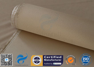 China 34oz 1.2mm Brown Satin Silica Fabric High Temperature Heat Insulation For Ovens supplier