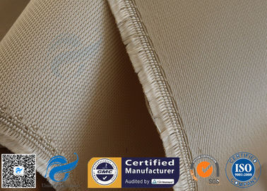 China High Temp Silica Fabric Brown 35OZ 92CM 800℃ Durable Electrical Insulation supplier