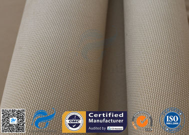 "China Brown Silica Fabric 1400℉ 1200G 1.3MM 36"" High Temp Insulation Blanket supplier"
