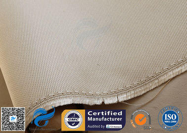 "China High Temperature Silica Fabric Brown 800℃ 1200G 36"" Welding Shield Blanket Cloth supplier"