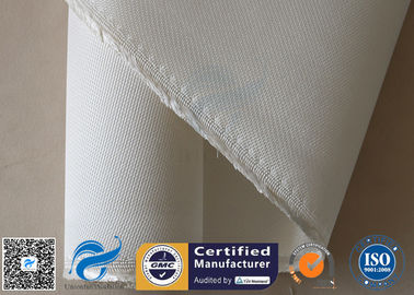 China 1.3MM White High Silica Fabric Heavy Duty 1200℃ 36OZ Durable Fire Blanket Cloth supplier
