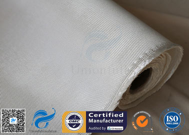 China High Silica Fabric 36OZ White 1.3MM 1200℃ High Temperature Furnace Door Lining supplier