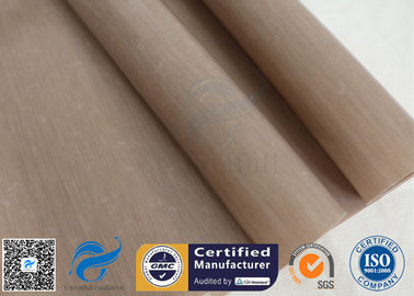 China 0.12mm PTFE Coated Fiberglass Fabric Non Stick Food Grade BBQ Grill Mat Oven Liner supplier