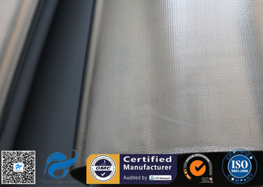 China 0.5mm Aluminium Foil / Silver Coated Fabric Fibreglass Fabric For Heat Protection supplier