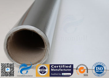 China 480 G / M2 Silver Coated Fabric Heat Reflective Aluminized Fiberglass Cloth supplier