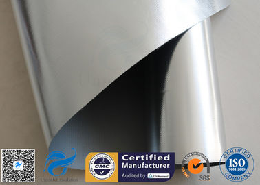 China 520g Silver Coated Fiberglass Fabric One Side Silicone One Side Aluminium Foil supplier