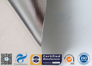 China 0.43mm Heat Reflective Fiberglass Fabric Aluminium Foil Laminated Fiber Glass Cloth supplier