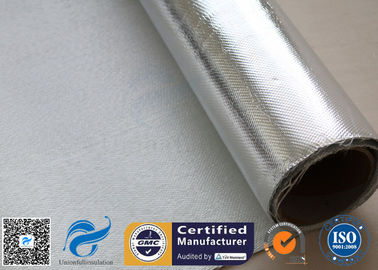 China Heat Reflective 0.9mm Aluminium Foil Fiberglass Silver Coated Fabric Pipe Insulation supplier