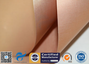 China Non Stick Copper PTFE Coated Fiberglass Fabric PTFE BBQ Silicone Mat Food Grade supplier