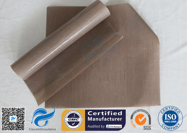 China 0.12Mm FDA Non Stick Silicone Baking Mat Beige PTFE BBQ Oven Liner supplier