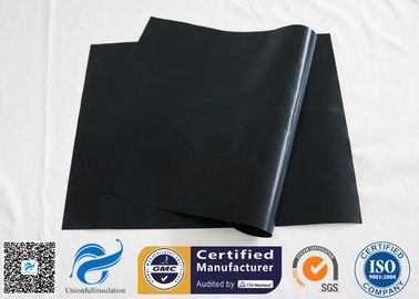 "China Non Stick Baking Mat 0.12mm Black PTFE BBQ Grill Oven Liner 15.75""X13"" Reusable supplier"