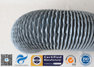 China PVC Coated Fiberglass Fabric Flexible Air Ducts 200MM 10M Grey 260℃ HAVC System supplier