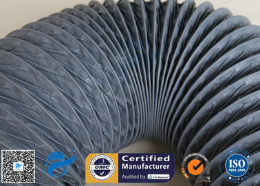 China PVC Coated Fiberglass Fabric 150MM HVAC Flexible Air Ducts 10M Grey 260℃ supplier