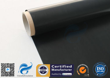 China Black Fire Resistant PTFE Coated Fiberglass Fabric 0.25mm 520 g / m2 supplier