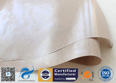 China FDA Approved Beige PTFE Coated Fiberglass Fabric For BBQ Grill Mat supplier