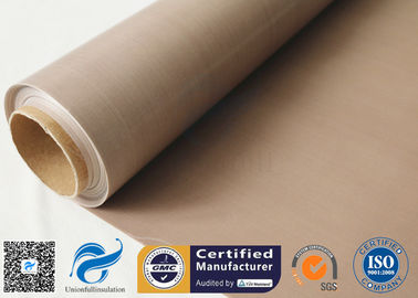 China 0.16MM Brown PTFE Coated Fiberglass Fabric Non Stick PTFE  BBQ Grill Mat Materials supplier