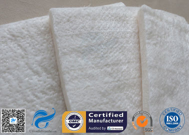 China 25mm 1200℃ White Fiberglass Needle Mat High Silica Heat Insulation Blanket supplier