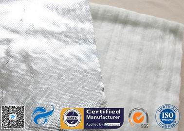 China Aluminium Foil Fiberglass Needle Mat E Glass 25MM White 800℃ Heat Insulation supplier