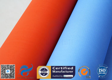 China Blue Rubber Silicone Coated Fiberglass Fabric Thermal Insulation Cover 18oz supplier