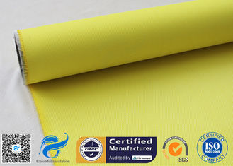 China Yellow High Temperature Lightweight Fiberglass Cloth For Waterproofing 530gsm 127cm supplier