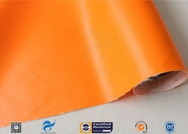 China 0.5mm Orange Silicone Coated Fiberglass Fabric For Thermal Insulation Fire Blanket supplier