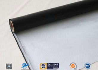China 0.45mm Black Silicone Coated Thermal Insulation Fiberglass Fabric 8H Satin Weave supplier