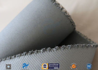 China 1550G 1.5MM Thermal Insulation Materials Grey Silicone Coated Fiberglass Fabric supplier