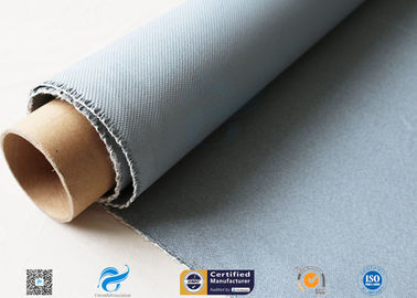 China Grey Silicone Coated Fiberglass Fabric 47OZ 1.3MM Electrical Insulating supplier