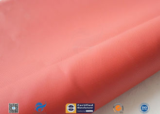 China Red 0.45mm 580g Silicone Coated Fiberglass Fabric For Thermal Insulation Jacket supplier