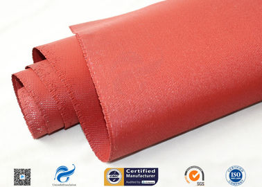 "China 30oz 39"" Red silicone coated fabric  Anti Corrosion Materials supplier"