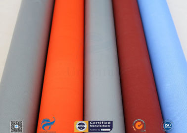 China PU Silicone Coated Glass Fabric 280G 590G Abrasion Resistant Fire Blanket supplier