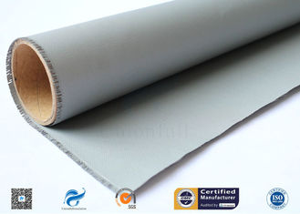 Double Sides Grey Silicone Rubber Coated Fiberglass Fabric E Glass Satin Weave